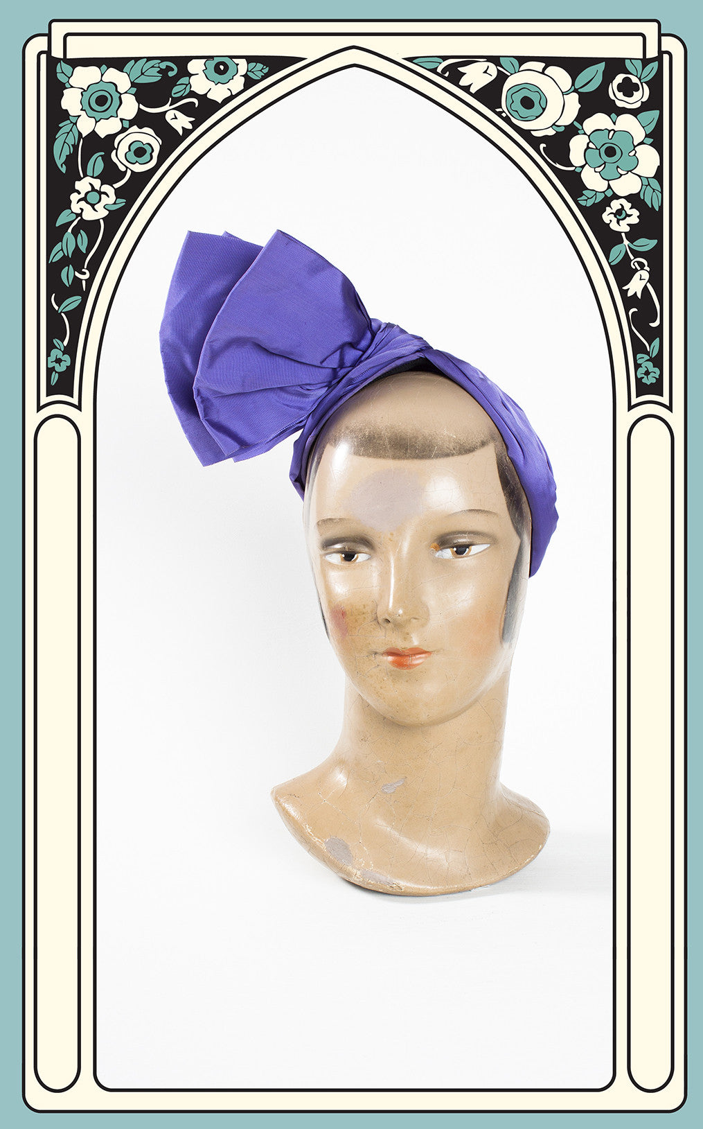 Rare Late 1930s Lilly Daché Silk Draped Turban