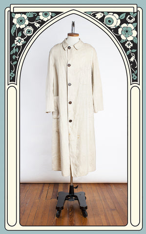 SOLD -- 1910s Mabley & Carew Men's Linen Motoring Coat - As Found