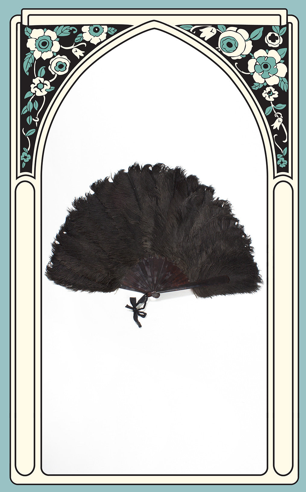 SOLD -- 1920s Ostrich Feather & Celluloid Hand Fan