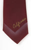 1950s California Creations by Don Kaufler Hand Painted & Glittered California Skinny Tie
