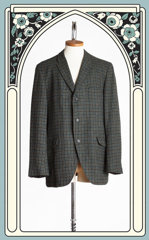 1960s Burk-Hall for Berry Burk Plaid Tweed Sport Coat