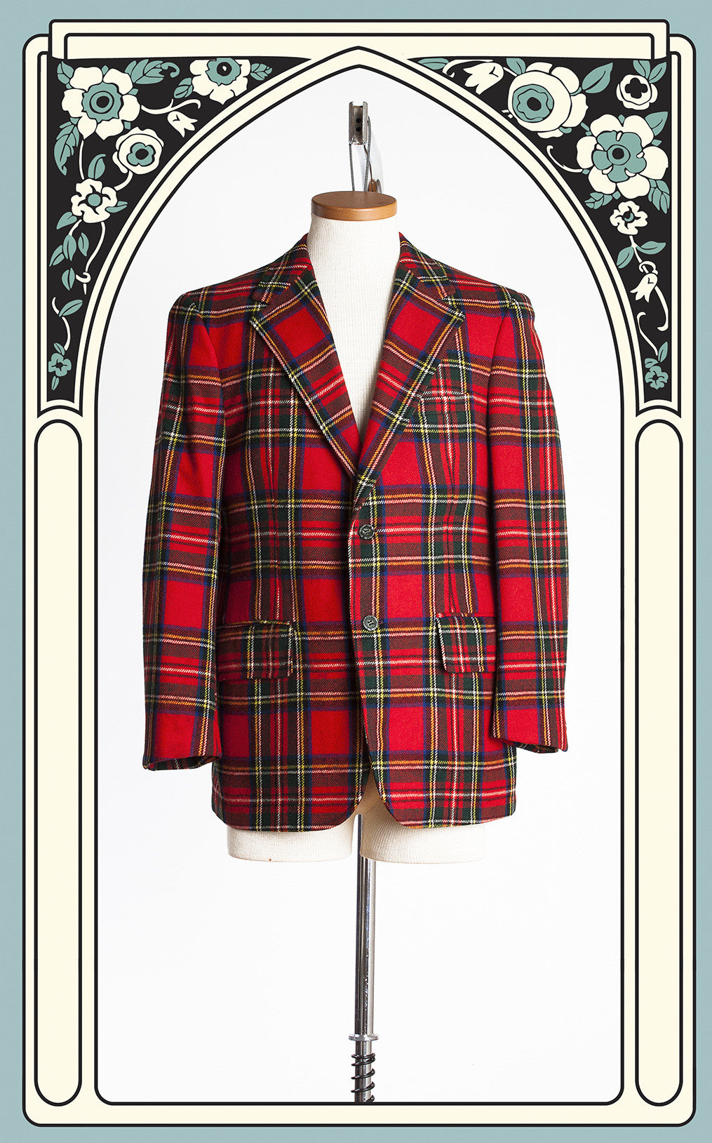 1970s Milton's Clothing Cupboard Royal Stewart Tartan Wool Jacket