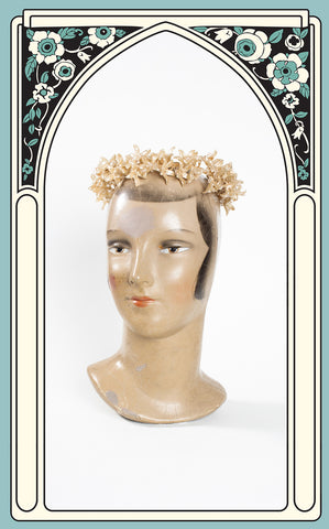1930s Wax Orange Blossom Crown