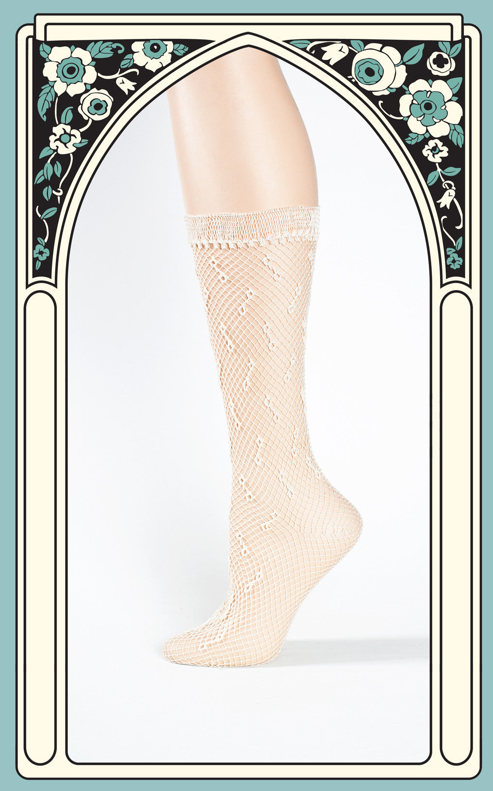 SOLD -- 1940s Lightweight Nylon White Crocheted Socks