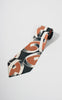 1940s Henry the Hatter Hunter Green, Peach and Cream Geometric Tie
