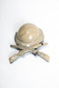 WWI Doughboy Helmet and Rifles Celluloid Sweetheart Brooch