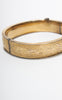 SOLD -- 1940s Dunn Bros. Gold-Filled Etched WWII U.S. Army Sweetheart Bracelet