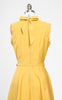 1950s Sunny Yellow Cotton Blend Day Dress