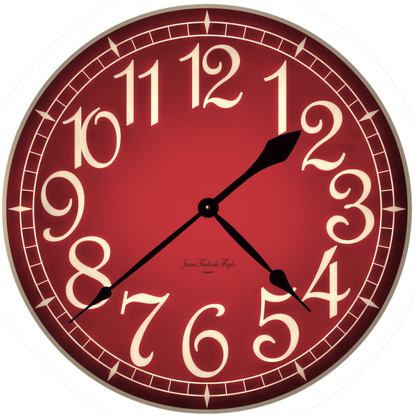 Bold French Red Wall Clock - James Frederick Floyd