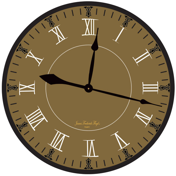 Earth Tone Wall Clock with Deep Sandy Clay Undertones - James Frederick Floyd