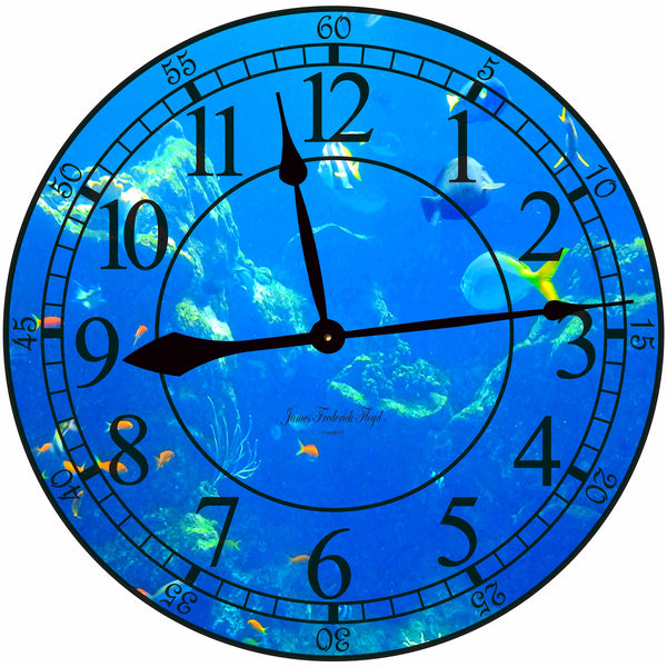 Ocean Reef Wall Clock - James Frederick Floyd