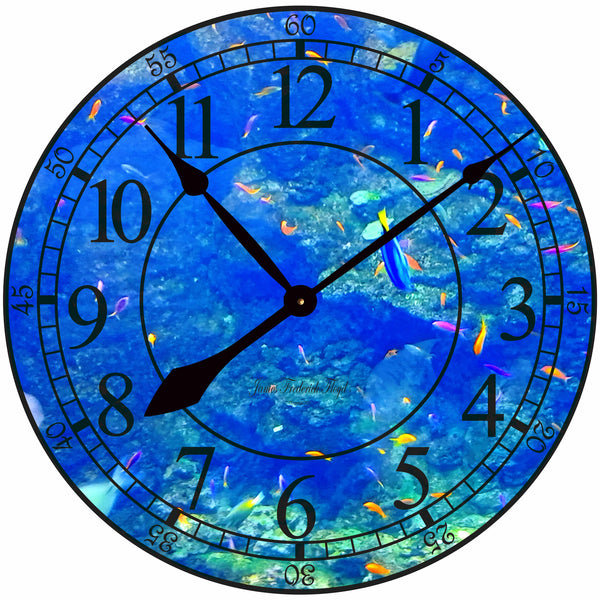 Coral Reef Wall Clock - James Frederick Floyd
