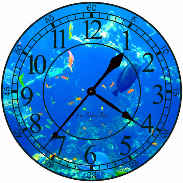 Ocean Deepths Wall Clock - James Frederick Floyd