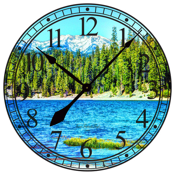Large Wall Clock of the Sierra Nevada Mountains - James Frederick Floyd