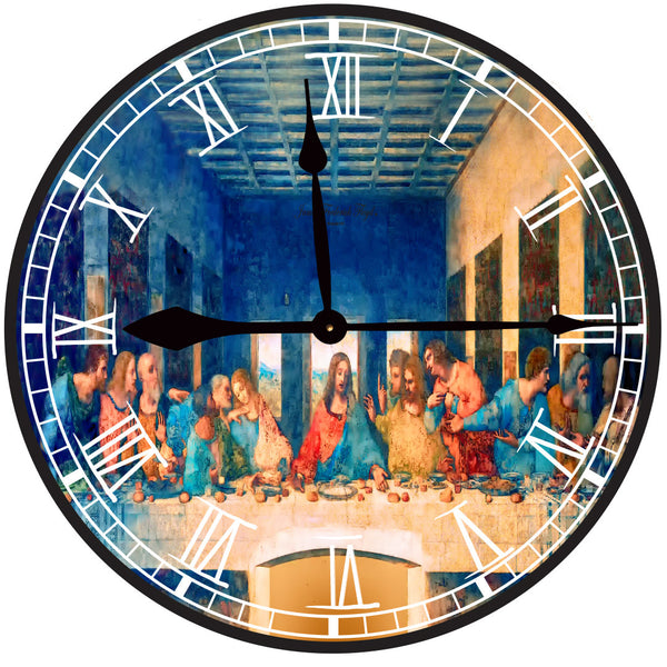Large Wall Clock - The Last Supper (Leonardo da Vinci) - James Frederick Floyd