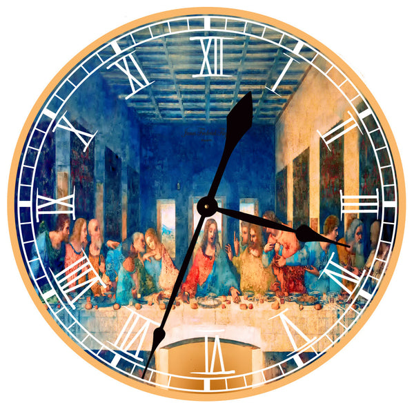 The Last Supper (Leonardo da Vinci) Wall Clock - James Frederick Floyd
