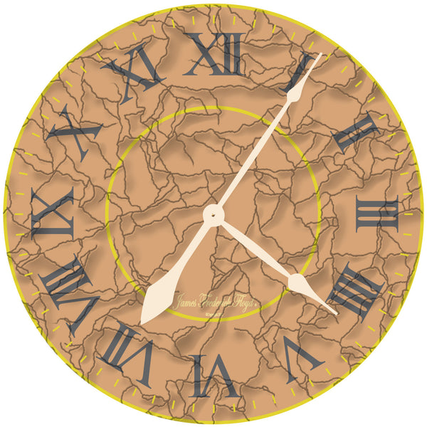 Egyptian Sands Wall Clock - James Frederick Floyd