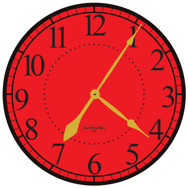 Grand Tuscany Red Wall Clock - James Frederick Floyd