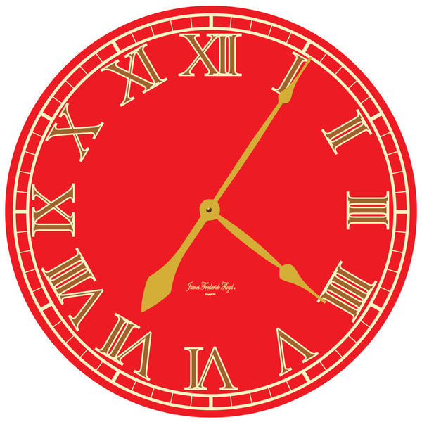 Bold Modern French Wall Clock - James Frederick Floyd
