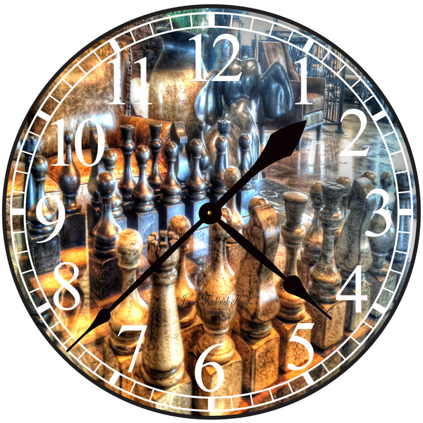 King's Court Chess Wall Clock - James Frederick Floyd