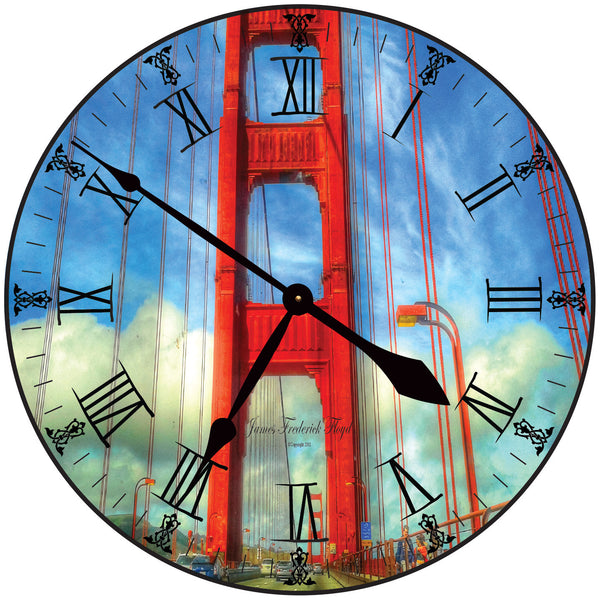 San Francisco Golden Gate Wall Clock - James Frederick Floyd