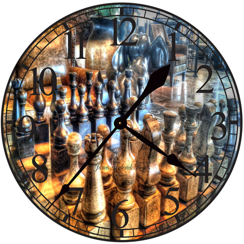 Check Mate Masters Wall Clock - James Frederick Floyd