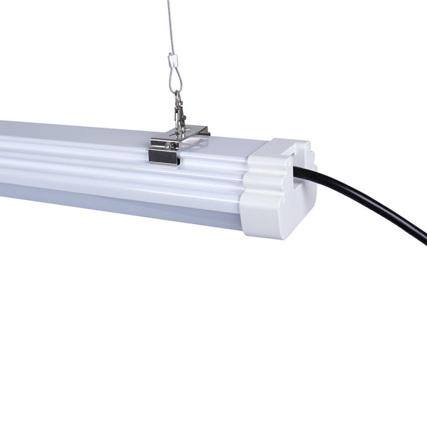 Tri-Proof Linear Fixture 4' Bi-Level Sensor 140L 120V
