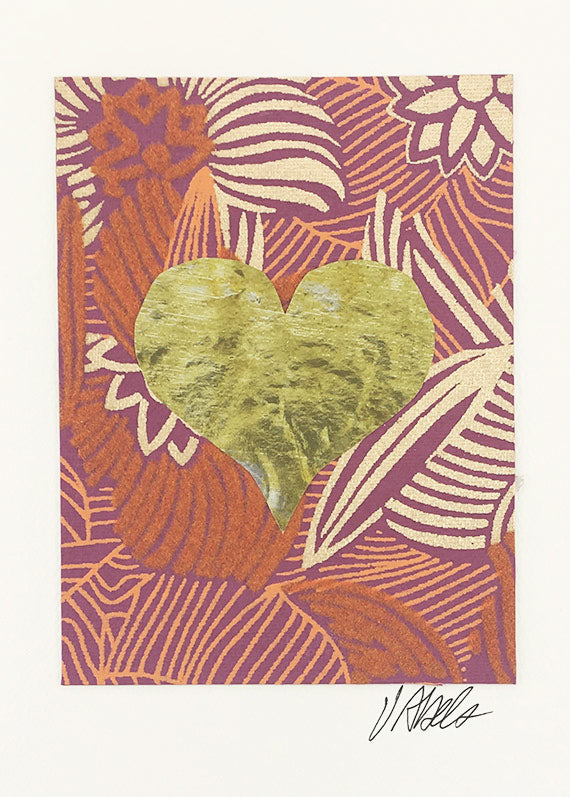 06bcb36e770d Flowered/Gold Heart – Constance Kay Art Card Store