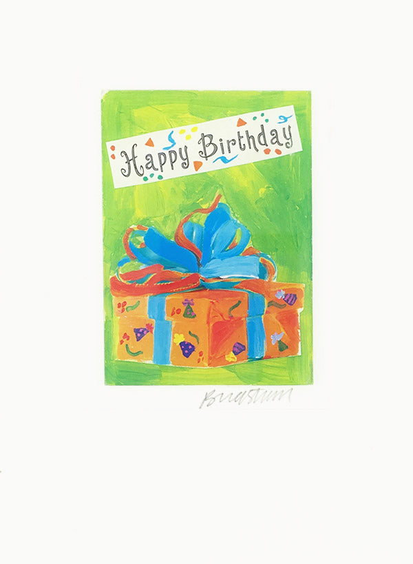 Colorful Birthday Present Constance Kay Art Card Store