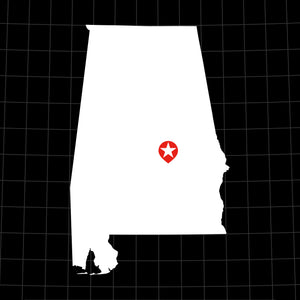 Digital Vector Map of Alabama