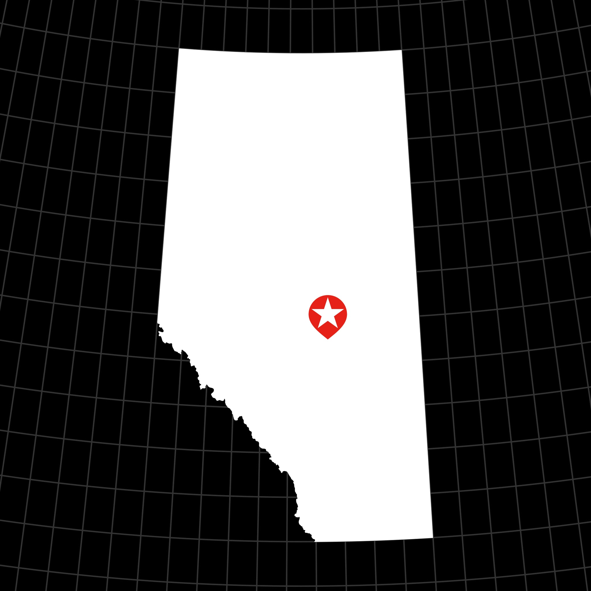 Digital Vector Map of Alberta, Canada