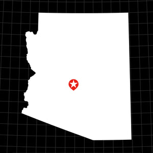 Digital Vector Map of Arizona