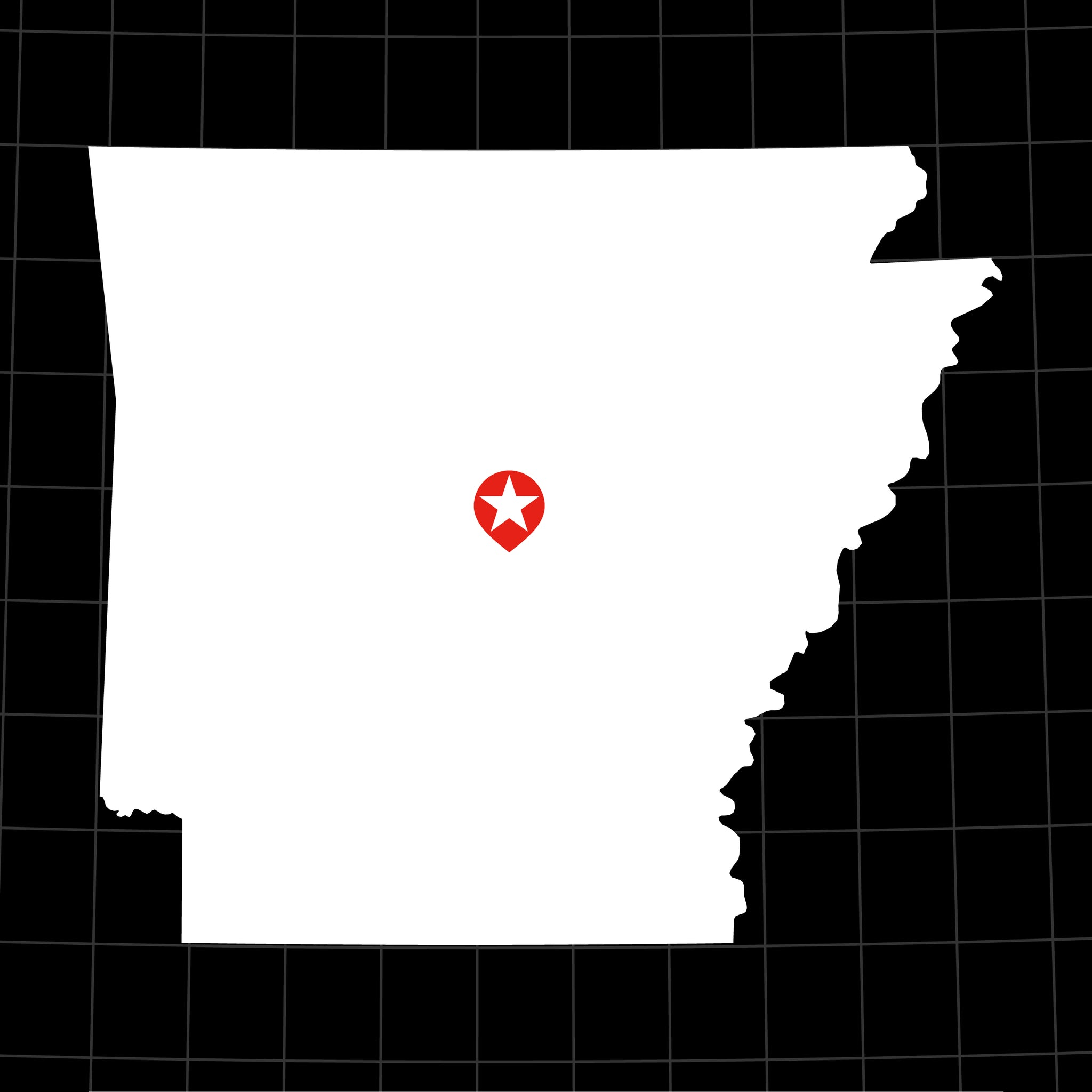 Digital Vector Map of Arkansas