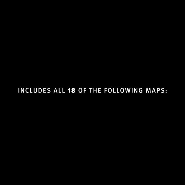 Includes all 18 of the following maps
