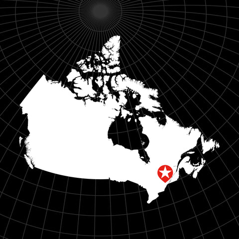 Digital Vector Map of Canada