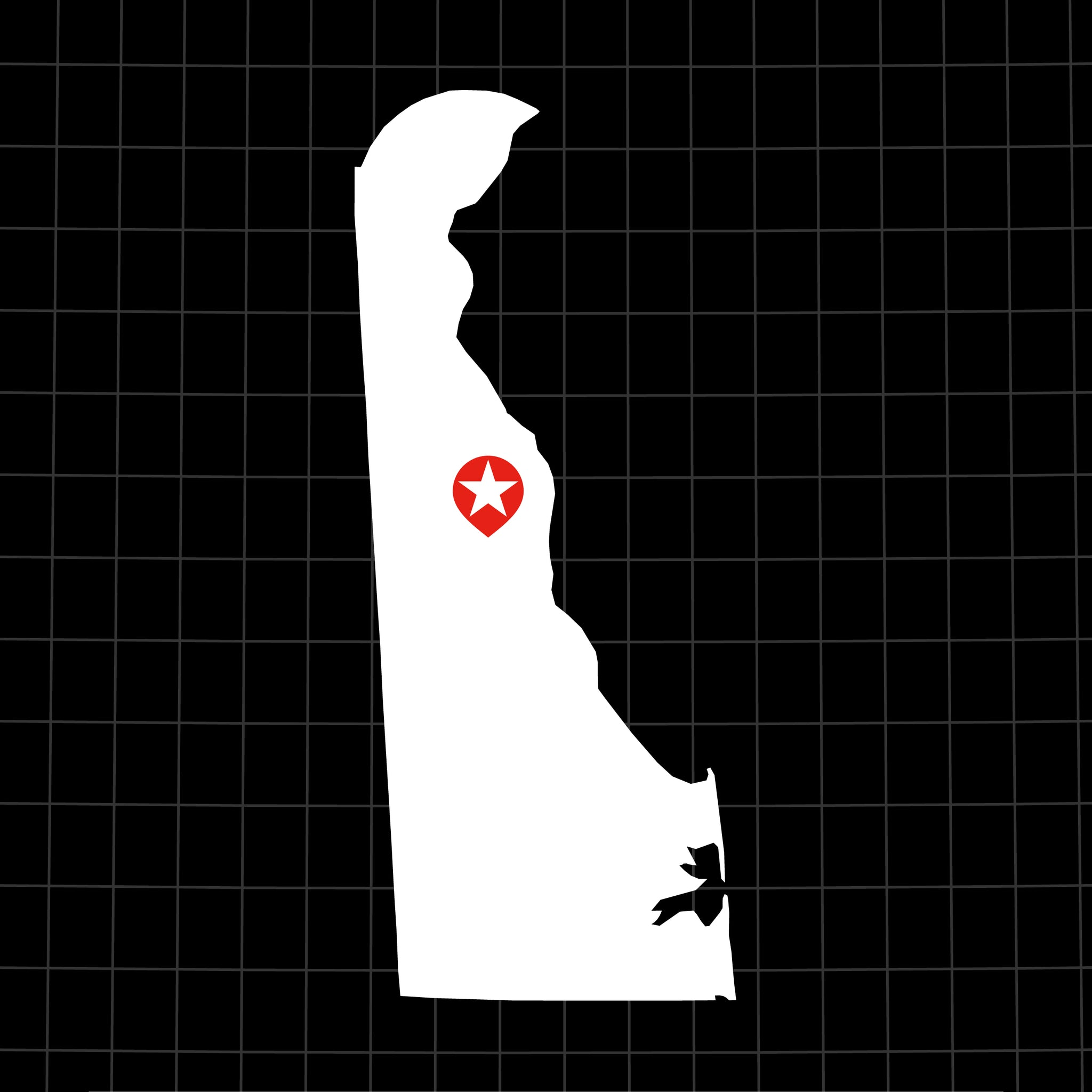Digital Vector Map of Delaware