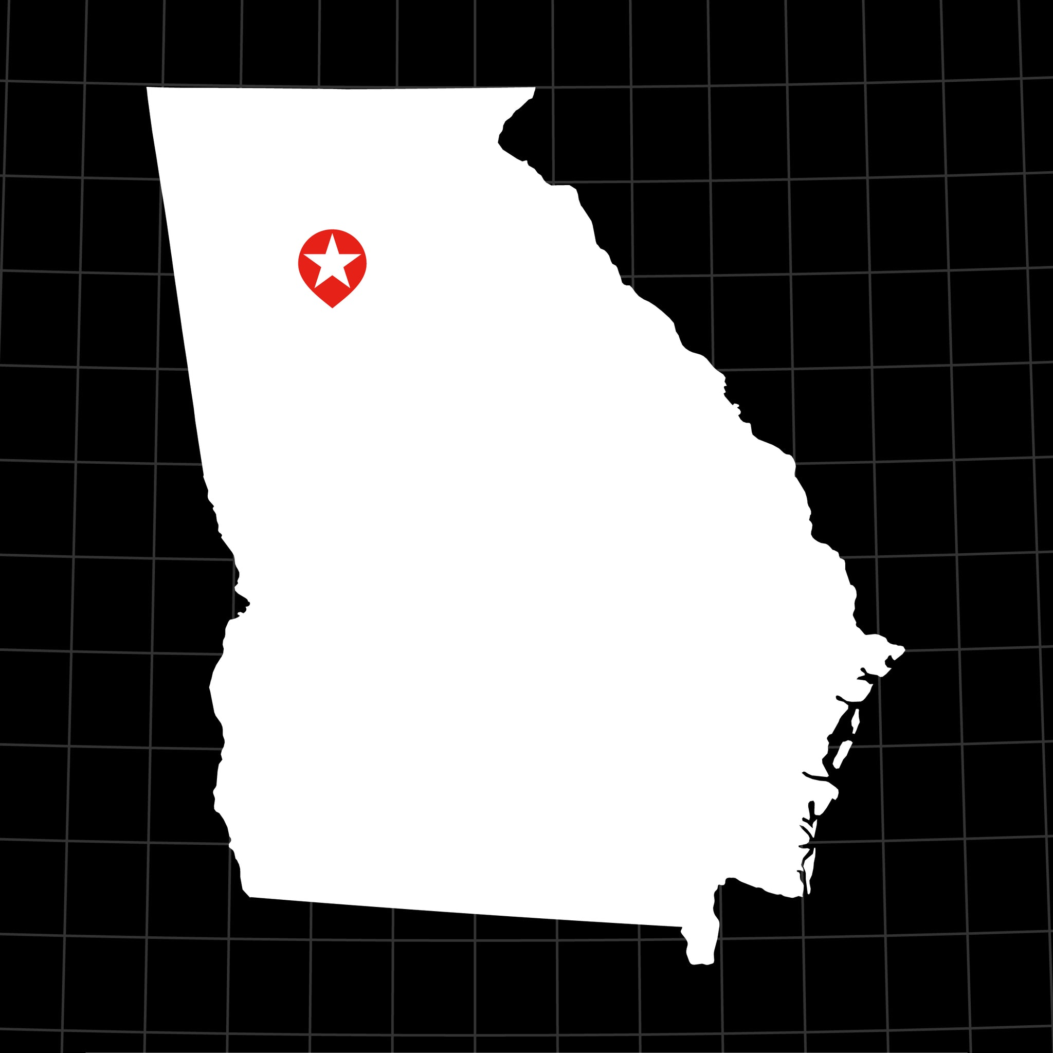 Digital Vector Map of Georgia