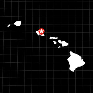 Digital Vector Map of Hawaii