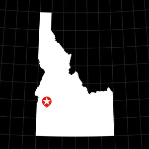 Digital Vector Map of Idaho