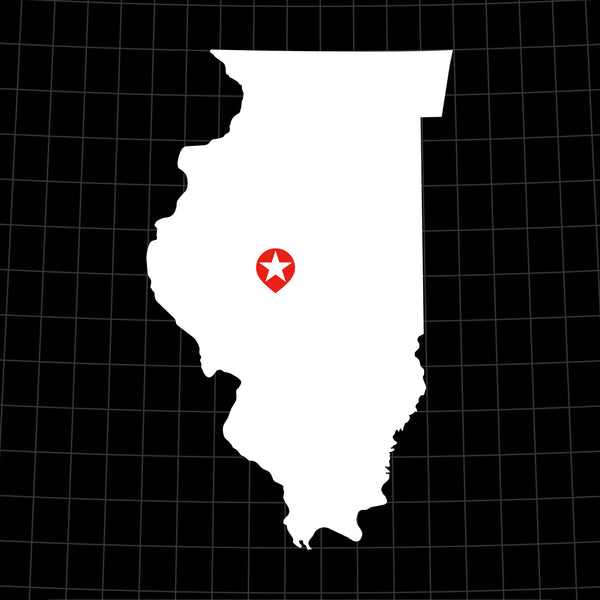 Digital Vector Map of Illinois
