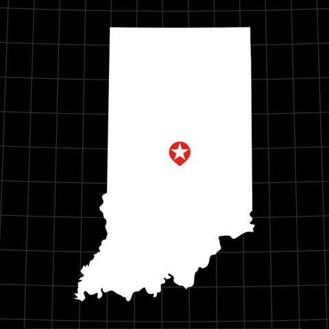 Digital Vector Map of Indiana
