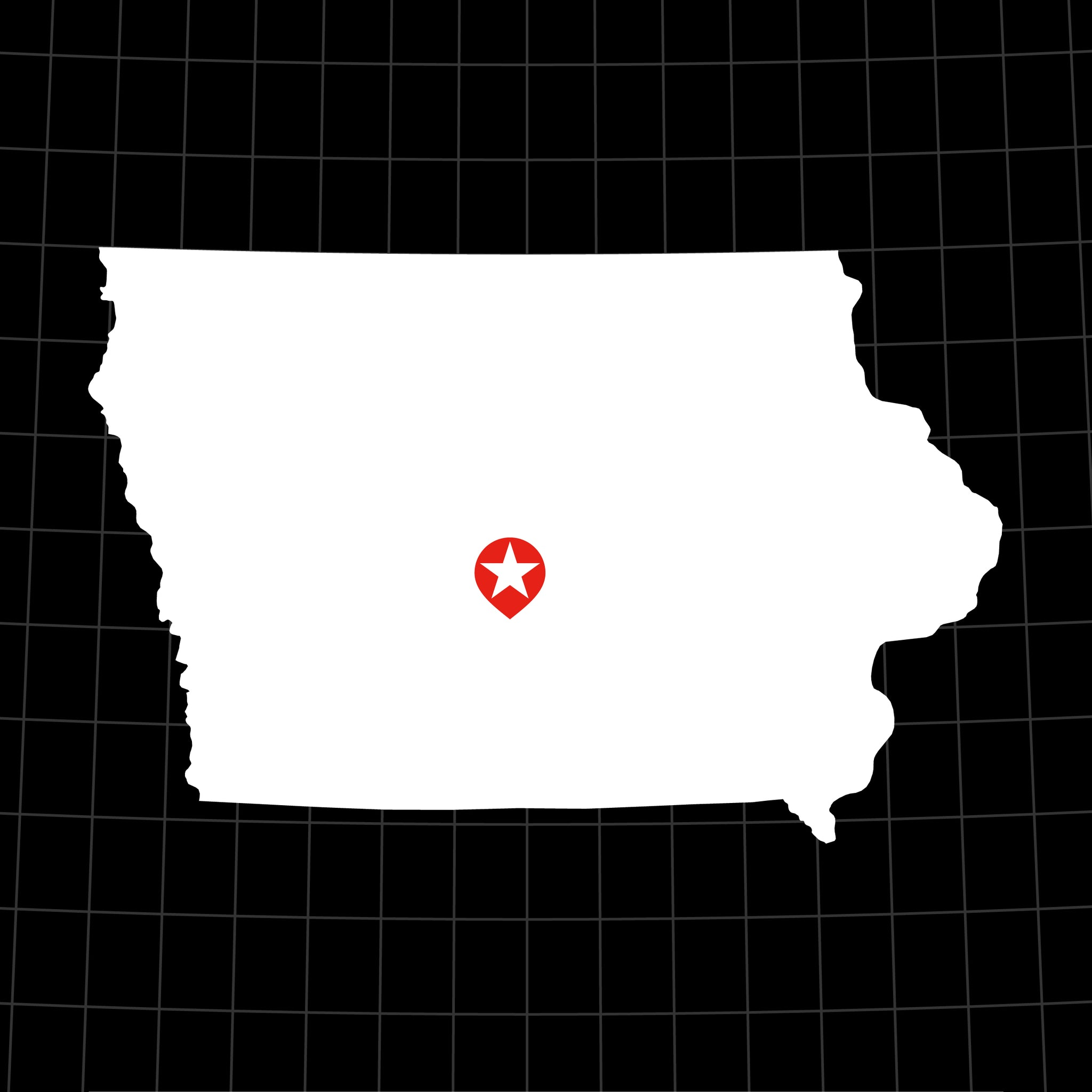 Digital Vector Map of Iowa