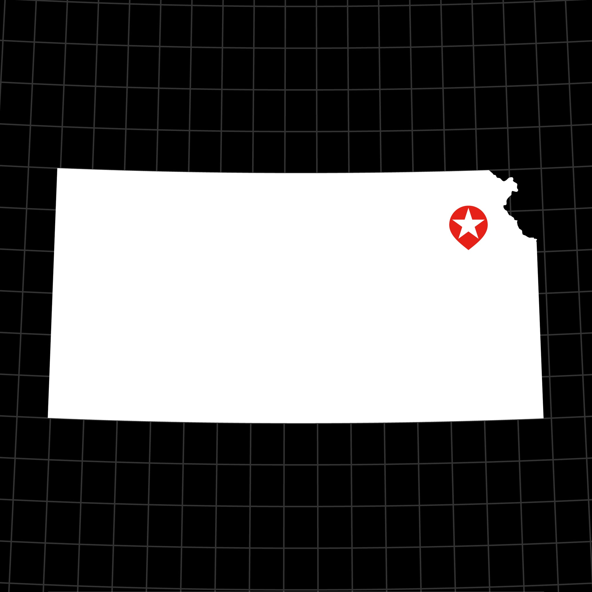 Digital Vector Map of Kansas