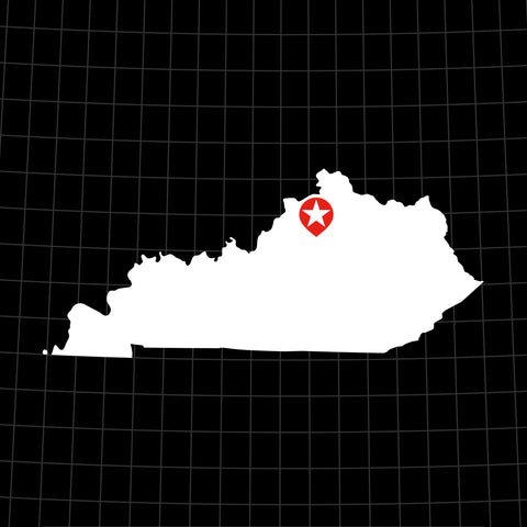 Digital Vector Map of Kentucky