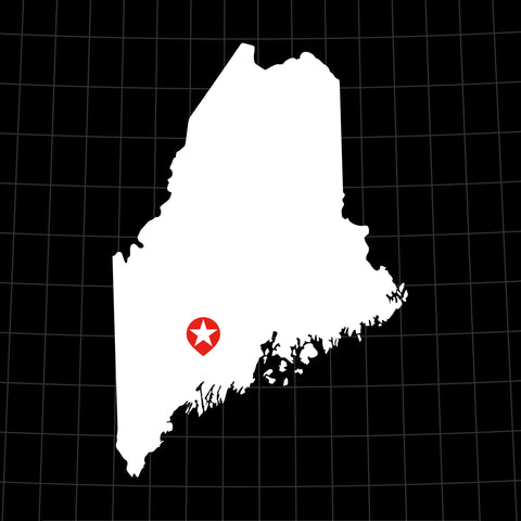 Digital Vector Map of Maine