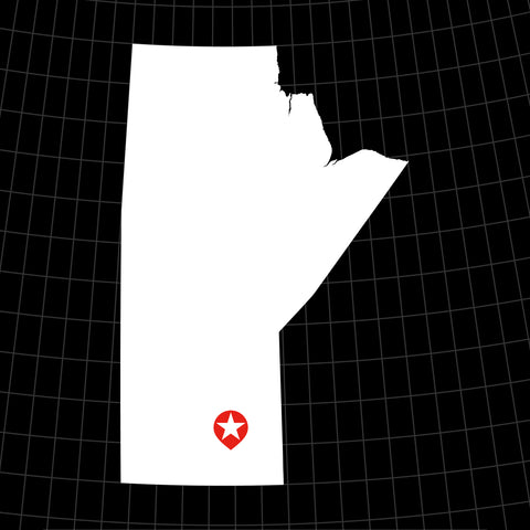 Digital Vector Map of Manitoba, Canada