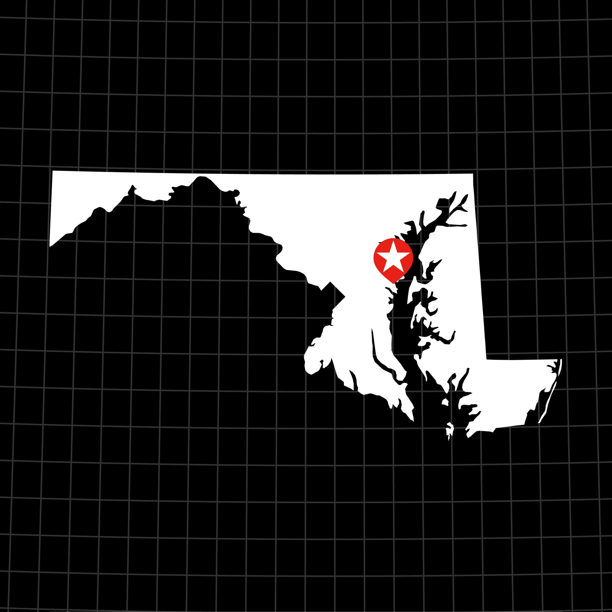 Digital Vector Map of Maryland