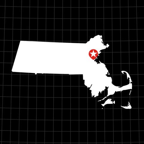 Digital Vector Map of Massachusetts