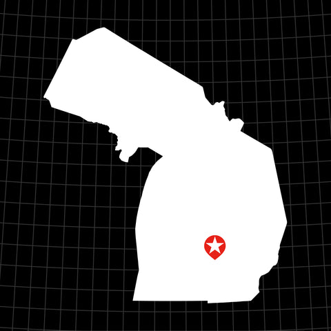 Digital Vector Map of Michigan
