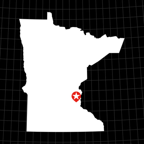 Digital Vector Map of Minnesota